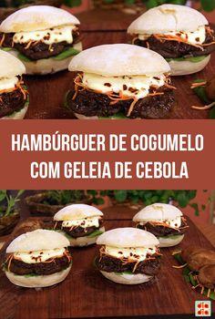 Hambúrguer de Cogumelo com Geleia de Cebola