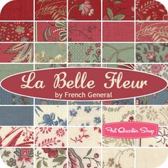 Esprit de Noel Charm Pack French General for Moda Fabrics - Fat Quarter Shop Quilting Projects, Quilting Designs, French General Fabric, Quilt Labels, Old Quilts, Jingle All The Way, Fat Quarter Shop, Fabric Ribbon, Cute Crafts