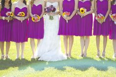yellow and plum wedding | Throw in colorful bouquets and you'll have wedded gold! Check out the ...