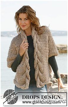 Sophisticated twist / DROPS - free knitting patterns by DROPS design DROPS jacket with a plait in Polaris. Sizes S - XXXL Free patterns by DROPS Design. Knitting Patterns Free, Knit Patterns, Free Knitting, Free Pattern, Knitting Wool, Drops Patterns, Drops Design, Baby Cardigan, Knit Cardigan