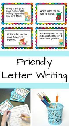 Help students identify and use the 5 parts of the friendly letter: date, greeting, body, closing and signature. It comes with worksheets, task cards, teacher/student response activities, and some writing papers.