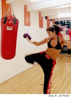 Kickboxing in motion