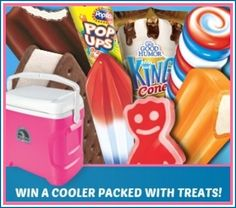 Sweet Treats Summer Sweeps WIN a Cooler Packed with Frozen Treats! Ends 8/19