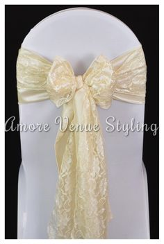 #wedding #sash #taffeta #ice #ivory #lace