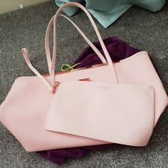 d2098429b 100% genuine Ted Baker bag. Baby pink with rose gold trim. Use probably