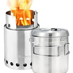 Solo Stove Titan & Solo Pot 1800 Camp Stove Combo: Woodburning Backpacking Stove Great for Camping and Survival - Good quality and solid feeling.This Solo Stove