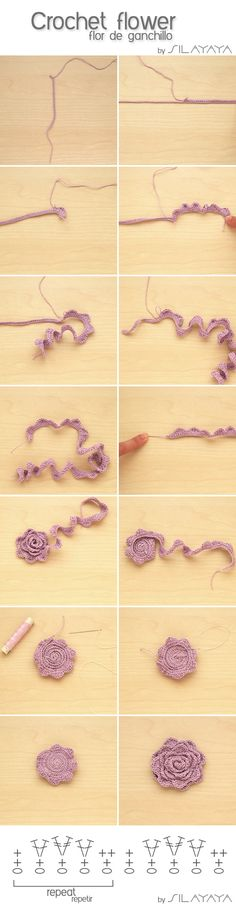 Beautiful crochet flower tutorial from Silaya: silayaya.com. More Great Looks Like This