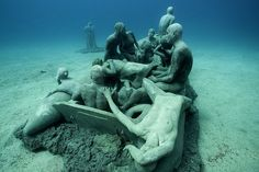 Submerged: startling underwater art points up refugee crisis. There is also a conservation angle as the pieces should form in time a large-scale artificial reef!