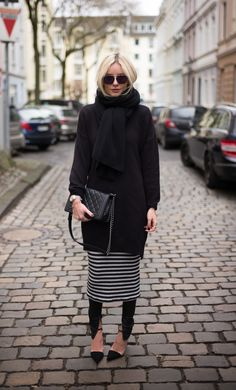 @lisarvd perfect combination: cashmere + layering + stripes. cashmere scarf #lieblingsstück.