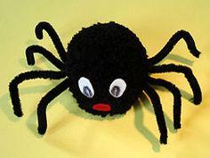 Pompom Spinnen basteln                                                                                                                                                                                 Mehr
