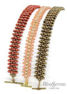 Rondelle Row bead bracelet by TrendSetter Carole Ohl -- Free Tutorial