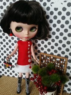 Custom Blythe dress Dot Runway by Pinnigirl on Etsy