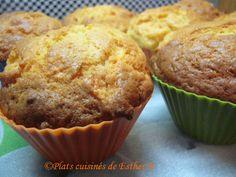 Les plats cuisinés de Esther B: Muffins aux carottes