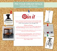 Pin Your Dream Space | 2013 Pinterest Contest