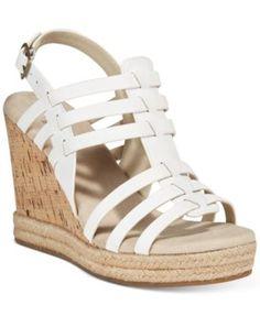 White Mountain Veronique Platform Wedge Sandals