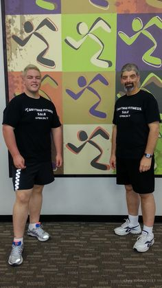 Mark and I helping Anytime Fitness Sale celebrate their 1st birthday 1 June 2013