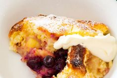 Lemon and blueberry self-saucing pudding recipe, NZ Woman's Weekly – visit Food Hub for New Zealand recipes using local ingredients – foodhub.co.nz