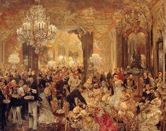 Adolph von Menzel, Dinner Dance, 1878