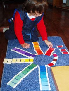 """Educating the senses - shades of colour... from Montessori World ("""",)"""