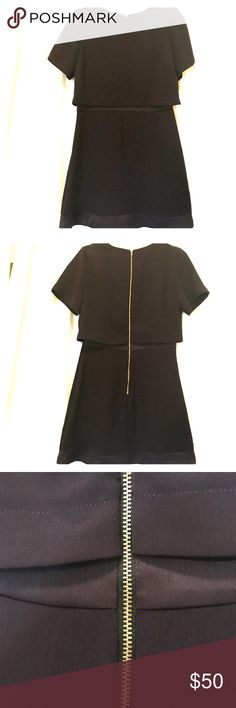 NWOT Topshop Dress Absolutely unique & gorgeous, gold zipper down the back Topshop Dresses
