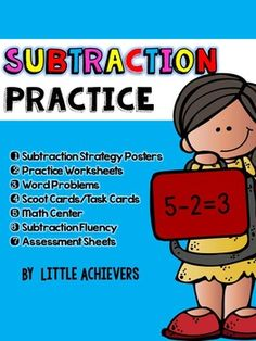 Here are 82 print and ready-to-go subtraction worksheets in more than ten formats covering subtraction within 10.