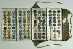 Button sample book from France, late 18th century.