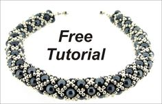 FREE Tutorial - diamond net weave