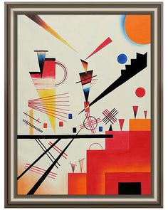 """Structure Joyeuse"" by Kandinsky, who some credit to be the first to create purely abstract art, makes me smile..."