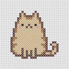 Kawaii Cat Cross Stitch !  Its PUSHEEN !!  https://www.etsy.com/listing/129333858/pudge-kawaii-cat-2-cross-stitch