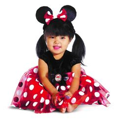 This Baby Minnie Mouse Costume is just too adorable for words! Dressed up in this Red Minnie Mouse Costume, your child is sure to Disfraz Minnie Mouse, Minnie Mouse Halloween Costume, Halloween Bebes, Red Minnie Mouse, Theme Halloween, Baby Mouse, Halloween Cookies, Infant Halloween, Girl Halloween