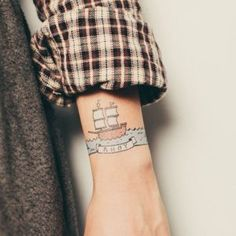 Ahoy by Mike Lowery from Tattly Temporary Tattoos. Fake tattoos by real artists! Henna Tattoos, Love Tattoos, Beautiful Tattoos, Body Art Tattoos, New Tattoos, Tribal Tattoos, Small Tattoos, Tattoos For Guys, Tattly Tattoos