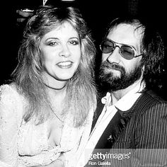 """""""My other family is #FleetwoodMac. I don't need the money but there's an emotional need for me to go on the road again. There's a love there; we're a #band of brothers."""" Happy 69th birthday to #singersongwriter #StevieNicks.  #frontwoman Stevie Nicks and drummer #MickFleetwood of Fleetwood Mac captured Jan 17 1983 during 10th Annual American Music Awards at the Shrine Auditorium in Los Angeles CA  #rongalellaarchive #paparazzo #paparazzi  #photographer Ron Galella"""
