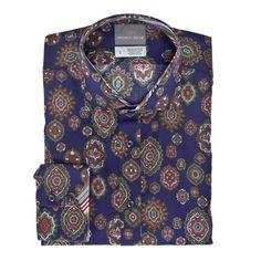 Thomas Dean Co. | Big & Tall Print Button Down Sport Shirt