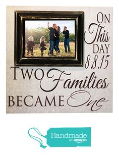 Blended Family Picture Frame Two Families Become One Personalized 16x16 sign with a 5x7 Picture Frame- Madi Kay Designs from Madi Kay Designs http://www.amazon.com/dp/B015TD6OGG/ref=hnd_sw_r_pi_dp_TCfHwb1BRXPRE #handmadeatamazon