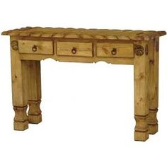 Rustic Pine Collection Med Classic Sideboard 04