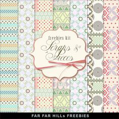 New Freebies Kit of Backgrounds - Scraps and Pieces:Far Far Hill - Free database of digital illustrations and papers