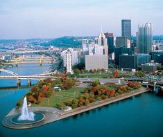 The Allegheny and Monongahela meet to form the Ohio River