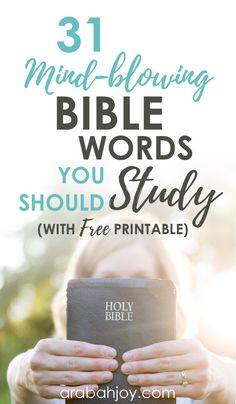 Word studies offer a great opportunity to dig deeper into God's Word. Click to read our list of 31 mind-blowing word studies you should do. Be sure to grab the free printable, too! #BibleStudy #wordstudy