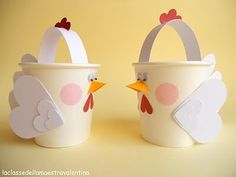 Easter Crafts: 60 creative ideas with step by step – new decoration styles - Ostern Kids Crafts, Toddler Crafts, Projects For Kids, Diy For Kids, Easter Art, Easter Crafts, Spring Crafts, Holiday Crafts, Paper Cup Crafts