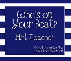 This is my second post in the Who's on Your Boat? School counseling is a lot like navigating a boat. Bringing school staff a. Organization And Management, Classroom Management, School Staff, Middle School, School Guidance Counselor, Art Therapy, Play Therapy, Boat Art, Teaching Tips