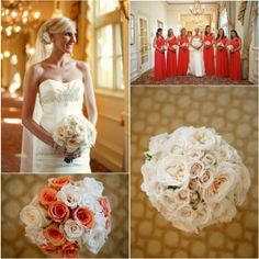 coral and ivory wedding | Sarasota Beach Wedding | Coral and Ivory Wedding | @Carol Henry Wedding ...