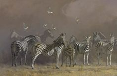 "Items similar to Zebra Art Print - ""After the Panic"" (large) by Kim Donaldson on Etsy Wildlife Paintings, Wildlife Art, African Animals, African Art, Zebra Drawing, Hunting Painting, Zebra Art, Animals And Pets, Artsy"