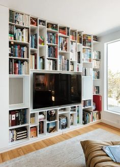Wall Units Glamorous Bookcase With Tv Shelf Bookshelf Tv Stand Regarding Tv Bookcase Wall Unit Plans Plan Hd Wallpaper Photos Tv Bookcase, Bookshelves With Tv, Bookshelves In Living Room, Living Room Tv, Bookshelf Storage, Tv Shelf, Bookshelf Ideas, Bookshelf Styling, Bookshelf Wall