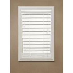 Home Decorators Collection White 2-1/2 in. Premium Faux Wood Blind - 59 in. W x 72 in. L - 10793478067237 - The Home Depot