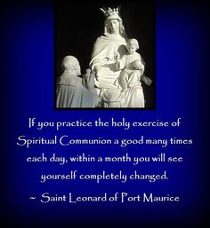 SPIRITUAL COMMUNION - Crusaders of the Immaculate Heart