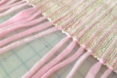 How to weave a soft baby blanket with polar fleece.