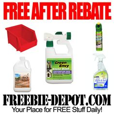 FREE AFTER REBATE – Cleaning Chemicals & More - exp 3/17/13