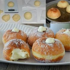 Goal - Italian Pastries Pastas and Cheeses Italian Pastries, Italian Desserts, Italian Recipes, Donut Recipes, Cake Recipes, Dessert Recipes, Cooking Recipes, Keks Dessert, Delicious Desserts