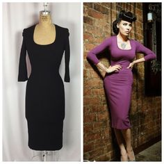 "Laura Byrnes Black Label Pinup Couture ""Burana"" Black Knit Dress. SOLD OUT. XS  