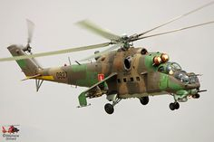Slovak Army MI24 helicopter // Photo Stéphane Gimard - www.helicopassion.com Helicopter Pilots, Attack Helicopter, Military Helicopter, Military Aircraft, Mi 24 Hind, Star Wars Pictures, Army Vehicles, Paint Schemes, Eastern Europe